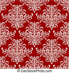 vetorial, seamless, barroco, padrão, ligado