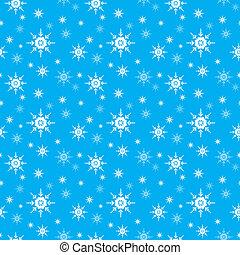 vetorial, seamless, fundo, snowflake
