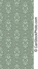 vetorial, seamless, padrão floral, em, verde