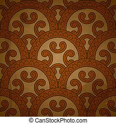 vetorial, seamless, padrão floral, ligado, vermelho, grungy, fundo, com, papel amarrotado, textura, eps, 10