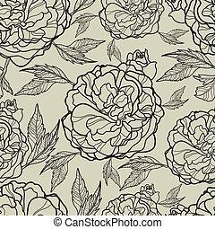 vetorial, seamless, padrão floral