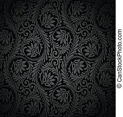 vetorial, seamless, papel parede, luxuoso