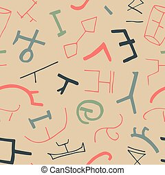 vetorial, seamless, textura, com, ancien