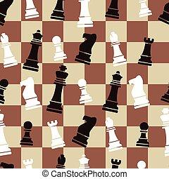 vetorial, seamless, xadrez, padrão experiência