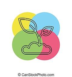 vetorial, seedling, ícone