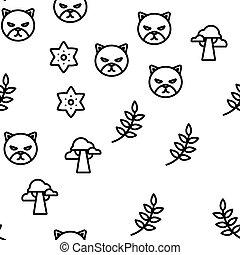 vetorial, selva, seamless, floresta, padrão