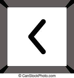 vetorial, seta esquerda, ícone