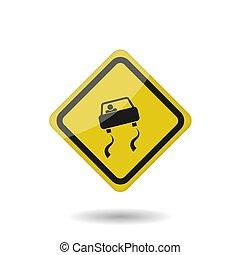 vetorial, sinal escorregadio estrada
