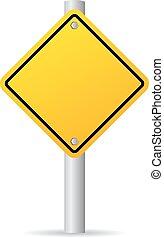 vetorial, sinal estrada