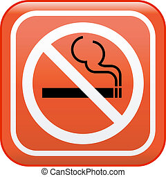 "vetorial, sinal, ""no, smoking"""