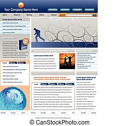 vetorial, site web, modelo