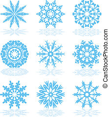 vetorial, snowflake, cobrança, ícones