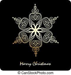 vetorial, snowflake, natal