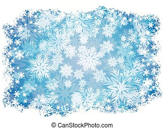 vetorial, snowflakes, papel parede, inverno, ilustração