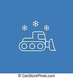 vetorial, snowplow, linear, ícone