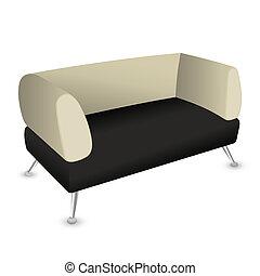 vetorial, sofá