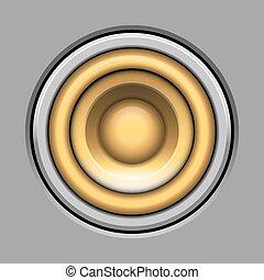 vetorial, sound-system, orador