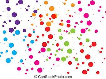 vetorial, splatter, desenho, design., cor experiência, ...