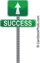 vetorial, sucesso, /, sinal