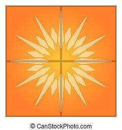 vetorial, sun., artisticos, illustration.