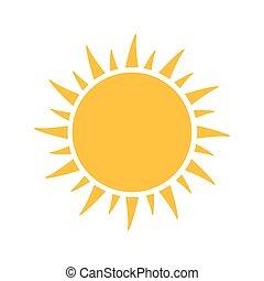 vetorial, sun., ilustração