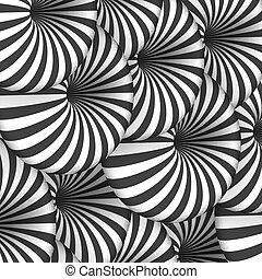 vetorial, túnel, espiral, efeito, óptico, illusion., ilusão