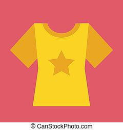 vetorial, t-shirt, ícone