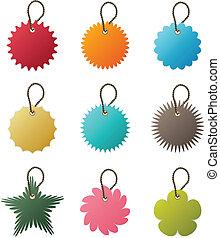 vetorial, tag, corrente chave