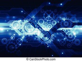 vetorial, tecnologia, abstratos, engenharia, futuro, fundo