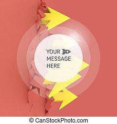 vetorial, teia, conceito, marketing, negócio, text., ilustração, desenho, presentation., lugar, arrows., template., tecnologia, style., tecnologia
