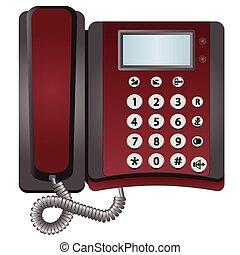 vetorial, telefone, isolado, branco