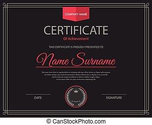 vetorial, template., certificado