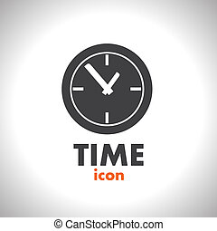 vetorial, tempo, ícone, relógio