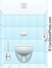 vetorial, toilet., ilustração