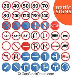 vetorial, tráfego, ilustração, sinal