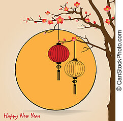 vetorial, tradicional, bom, illustration., chinês, grande, ...
