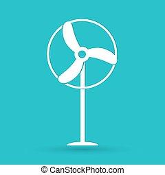 vetorial, turbina, vento