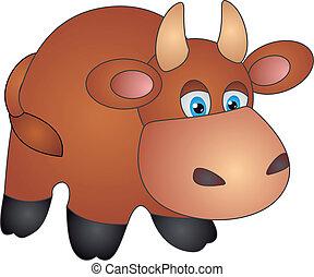 vetorial, vaca