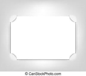 vetorial, vazio, quadro fotografia