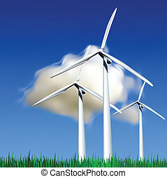 vetorial, vento, ilustração, generators.