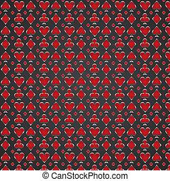 vetorial, vermelho, pôquer