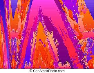 vetorial, vibrante, quadro, abstratos, fundo