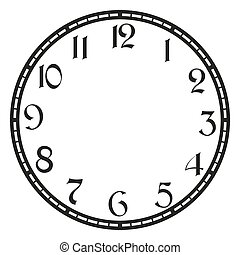 vetorial, vindima, relógio