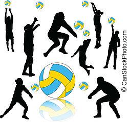 vetorial, -, voleibol, cobrança