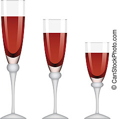 vetorial, wineglasses