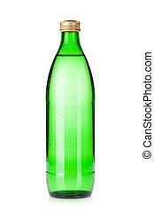 vetro acqua, bottiglia, sfavillante