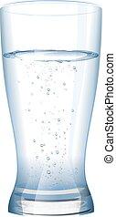 vetro acqua, freddo, pieno, fresco