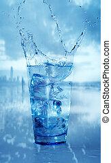 vetro acqua, gli spruzzi
