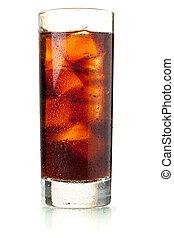 vetro acqua, highball, gocce, cola