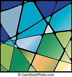 vetro, astratto, macchiato, finestra, illustrazione